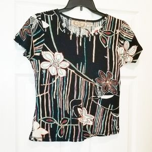 VINTAGE hippie floral psychedelic tee